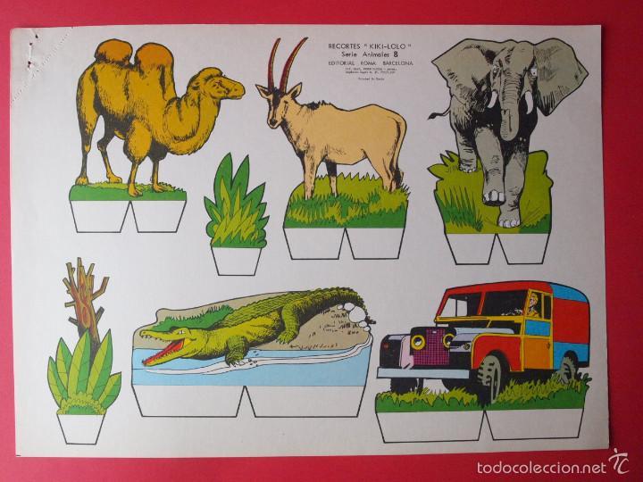 Coleccionismo Recortables: 9 RECORTABLES RECORTES KIKI-LOLO SERIE ANIMALES - ED ROMA - 1970 - COMPLETA - BE - Foto 9 - 57894187