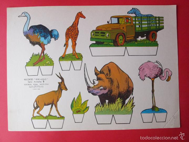 Coleccionismo Recortables: 9 RECORTABLES RECORTES KIKI-LOLO SERIE ANIMALES - ED ROMA - 1970 - COMPLETA - BE - Foto 10 - 57894187