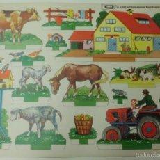 Coleccionismo Recortables: RECORTABLE DE GRANJA CON ANIMALES ,PUBLICIDAD UHU.. Lote 58784356