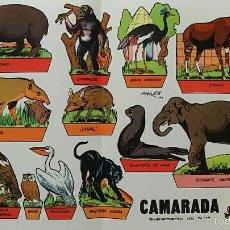 Coleccionismo Recortables: HOJA RECORTABLES ANIMALES. GARCES 1959. CAMARADA SUPLEMENTO 14. Lote 60332591