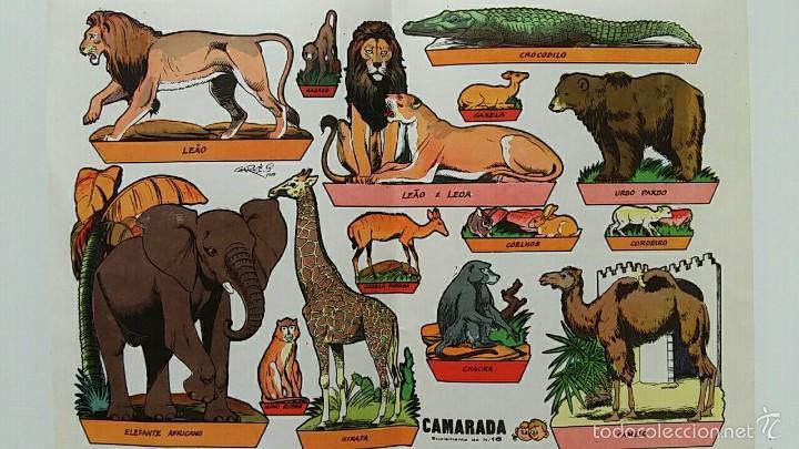 HOJA RECORTABLES ANIMALES. GARCES 1959. CAMARADA SUPLEMENTO 16 (Coleccionismo - Recortables - Animales)