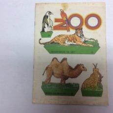 Coleccionismo Recortables: RECORTABLE DE EDICIONES BAUSAN: ZOO, ANIMALES. EDITADO EN 1979, 4 HOJAS. Lote 61599200