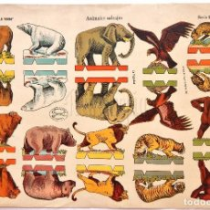 Coleccionismo Recortables: LAMINA RECORTABE SERIE IMPERIO Nº 24 ANIMALES SALVAJES EDICIONES LA TIJERA AÑO 1960. Lote 62553712