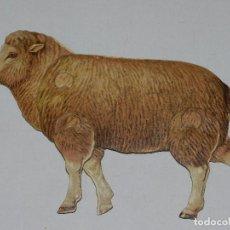 Coleccionismo Recortables: (M) EL CARNERO Y LA OVEJA NUM 9 , SUCESORES DE HERNANDO , MADRID , ANIMALES MOVIBLES , 25 X 18 CM. Lote 67952673