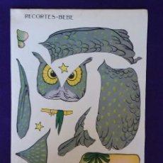 Coleccionismo Recortables: RECORTABLE DE RECORTES - BEBE. BUHO - AVE. SERIE A - N°7. EDITORIAL MUNTAÑOLA (BARCELONA). AÑOS 20.. Lote 68578601