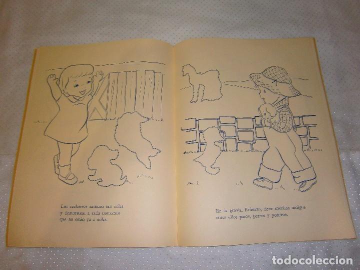 Coleccionismo Recortables: EN LA GRANJA CORTA, PEGA Y PINTA *IMPRESO EN ITALIA Y DISTRIBUIDO EN BARCELONA* *CASTELLANO AÑOS 50* - Foto 8 - 93138885