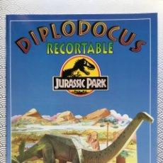 Coleccionismo Recortables: LIBRO RECORTABLE JURASSIC PARK - DIPLODOCUS - SUSAETA 1992. Lote 94053062