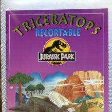 Coleccionismo Recortables: LIBRO RECORTABLE JURASSIC PARK - TRICERATOPS - SUSAETA 1992. Lote 94053243