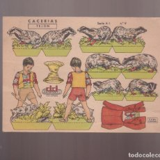 Coleccionismo Recortables: RECORTABLE DE KIKI RECORTABLES: CACERIAS: TEJON (SERIE A-1 NUM.9. Lote 101353487