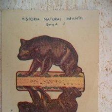 Coleccionismo Recortables: HISTORIA NATURAL INFANTIL.SERIE A.RECORTABLES CON SOPORTE.OSO. Lote 107018195