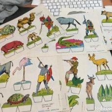 Coleccionismo Recortables: RECORTABLES RECORTES BABY SERIE ANIMALES. COMPLETA EN 9 LÁMINAS. EDITORIAL ROMA (C6). Lote 107922907