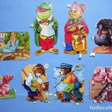 Coleccionismo Recortables: ANTIGUOS CROMOS RECORTABLES TROQUELADOS DE ANIMALES.. Lote 110042999