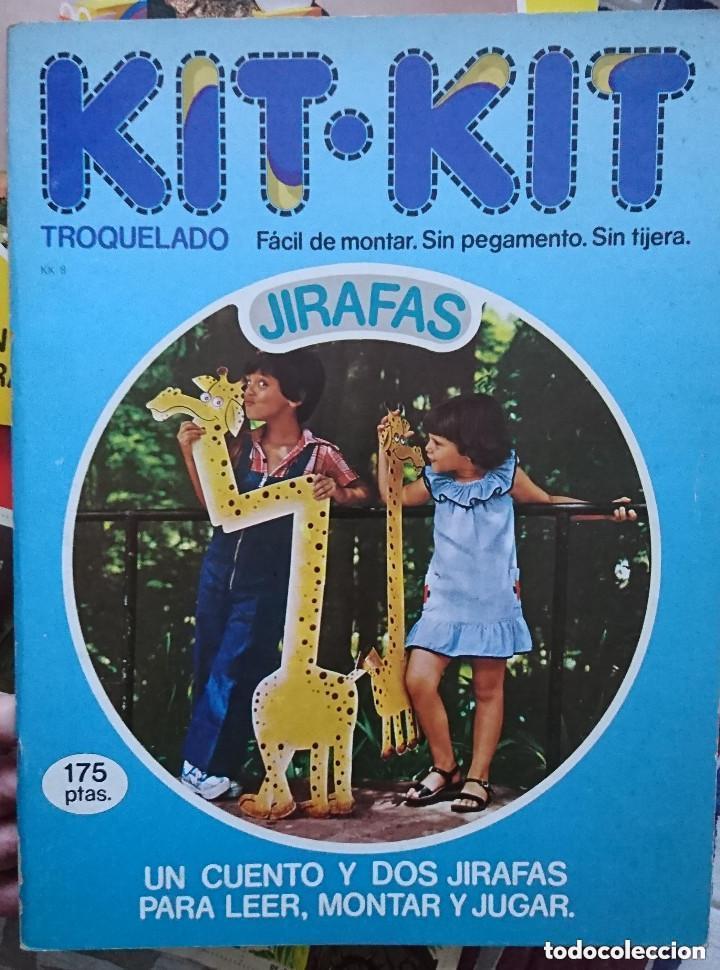 OCASION ! ANTIGUO LIBRO TROQUELADO KIT KIT JIRAFA NUMERO 8 1980 ARGOS VERGARA (Coleccionismo - Recortables - Animales)