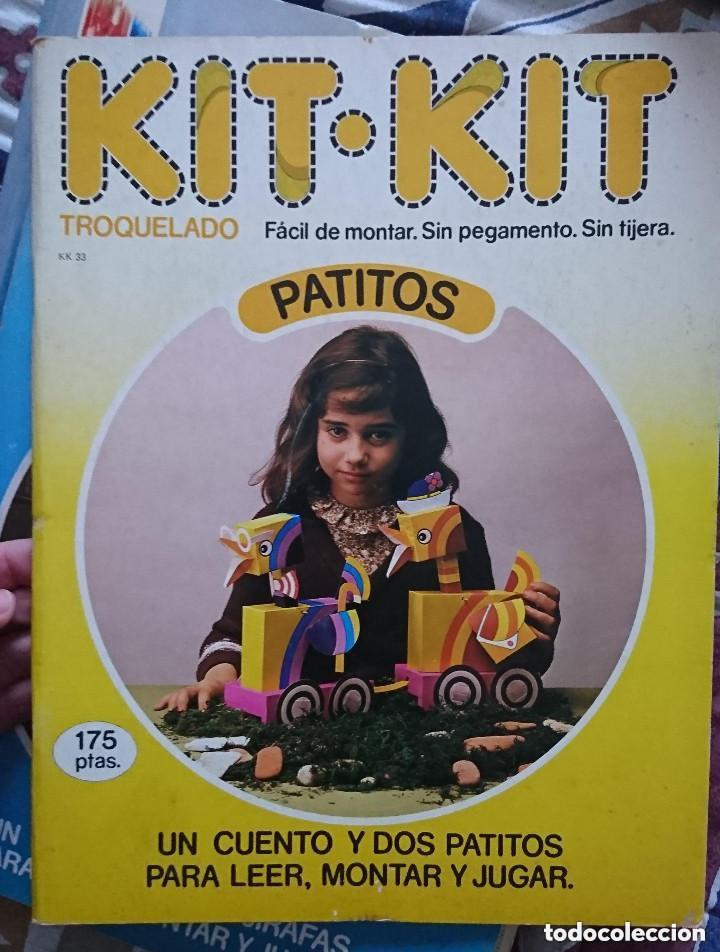 OCASION ! ANTIGUO LIBRO TROQUELADO KIT KIT PATITOS NUMERO 33 1980 ARGOS VERGARA (Coleccionismo - Recortables - Animales)