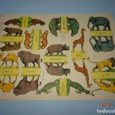 Coleccionismo Recortables: ANTIGUA LÁMINA ANIMALES SALVAJES SERIE 10 Nº 199 RECORTABLE DE EDICIONES * LA TIJERA * AÑO 1930S. Lote 120155455
