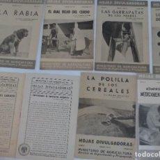 Coleccionismo Recortables: HOJAS DIVULGADORAS ENFERMEDADES DE ANIMALES=. Lote 120325543
