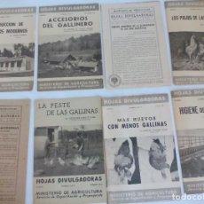 Coleccionismo Recortables: HOJAS DIVULGACIÓN DE AVICULTURA GALLINAS =. Lote 120389091