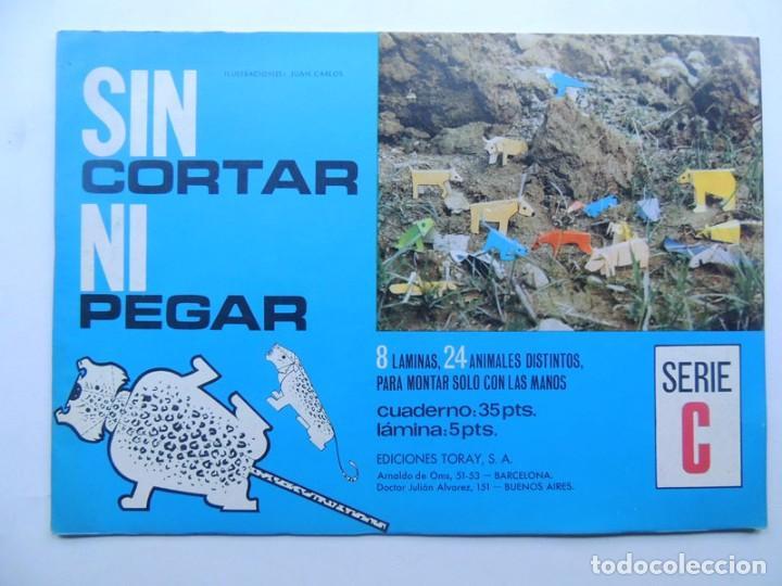 8 LAMINAS RECORTABLES DE ANIMALES / SIN CORTAR NI PEGAR - SERIE C / EDICIONES TORAY 1971 / SIN USAR (Coleccionismo - Recortables - Animales)