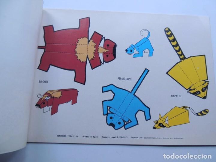 Coleccionismo Recortables: 8 LAMINAS RECORTABLES DE ANIMALES / SIN CORTAR NI PEGAR - SERIE C / EDICIONES TORAY 1971 / SIN USAR - Foto 2 - 122349935