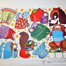 Collectables Paper Dolls - Modelo Lamina 1. Recortable fabula animal perro MARIQUITA año 1970 - 127250746