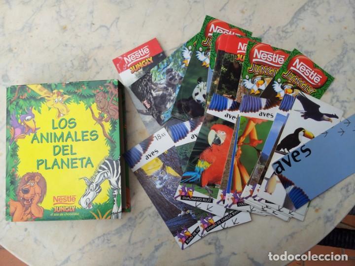 84 FICHAS - TARJETAS - CROMOS CON ESTUCHE. GRAN COLECCIÓN DE LOS ANIMALES DEL PLANETA NESTLÉ JUNGLY (Coleccionismo - Recortables - Animales)