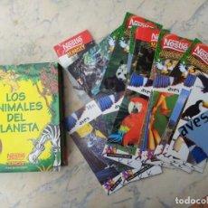 Coleccionismo Recortables: 85 FICHAS - TARJETAS - CROMOS CON ESTUCHE. GRAN COLECCIÓN DE LOS ANIMALES DEL PLANETA NESTLÉ JUNGLY. Lote 210438766