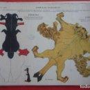 Coleccionismo Recortables: ANIMALES PLEGABLES. 'PINGÜINO Y LEÓN'. EDICIONES LA TIJERA SERIE 10 Nº 213. TAMAÑO 23X33,5 CM.. Lote 135240718