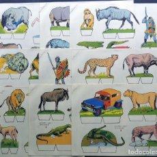 Coleccionismo Recortables: RECORTES BABY - SERIE ANIMALES ( 9 LAMINAS - SERIE COMPLETA ) EDITORIAL ROMA AÑO 1970. Lote 138849262