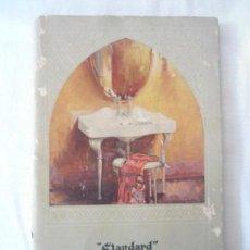 Coleccionismo Recortables: ANTIGUO CATALOGO STANDARD DE PRODUCTOS SANITARIOS Y W.C. AÑO 1929. Lote 142047990