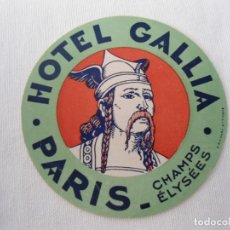 Coleccionismo Recortables: ANTIGUA PEGATINA DE HOTEL. Lote 142679582