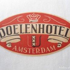 Coleccionismo Recortables: ANTIGUA PEGATINA DE HOTEL. Lote 142680130