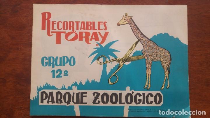 RECORTABLES TORAY GRUPO 12º PARQUE ZOOLOGICO .AÑO 1962 (Coleccionismo - Recortables - Animales)
