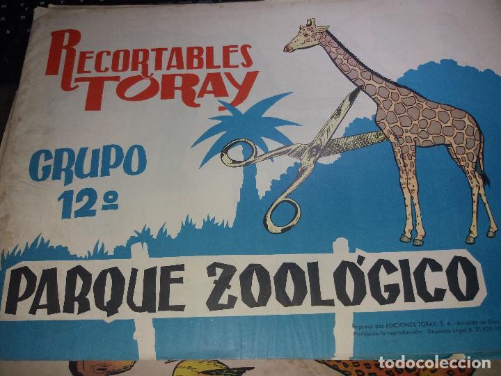8 HOJAS RECORTABLES TORAY* PARQUE ZOÓLOGICO * GRUPO Nº 12 -AÑO 1962 ( 40 X 29 ) (Coleccionismo - Recortables - Animales)