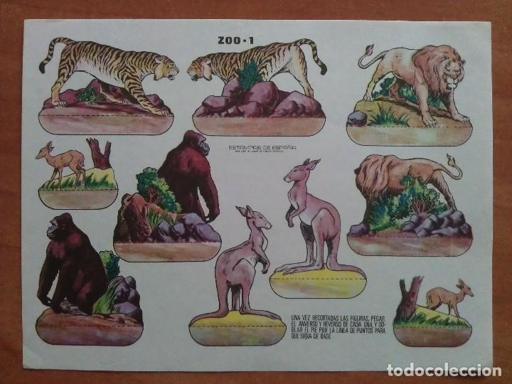 RECORTABLE ZOO 1 - ESTAMPAS DE ESPAÑA (Coleccionismo - Recortables - Animales)