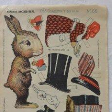 Coleccionismo Recortables: RECORTABLE DOÑA CONEJITA Y SU HIJA. Lote 164748914