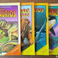 Coleccionismo Recortables: LOTE LIBRO EN ACCIÓN (SUSAETA, 1993). CON FIGURAS TRIDIMENSIONALES PARA RECORTAR Y ENSAMBLAR.. Lote 165847406