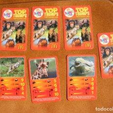 Coleccionismo Recortables: LOTE DE FICHAS TOP TRUMS DE ANIMALES VER FOTOS. Lote 167296872