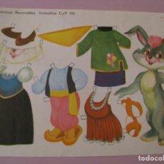 Collectables Paper Dolls - LAMINA RECORTABLES. ANIMALITOS C Y P 110. 1971. 31X21 CM. - 168002928