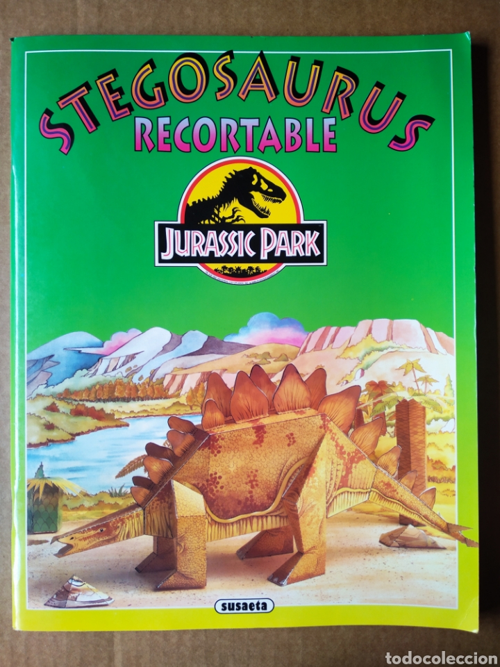 STEGOSAURUS RECORTABLE JURASSIC PARK (SUSAETA, 1993). MOLDES EN CARTÓN RÍGIDO A COLOR. (Coleccionismo - Recortables - Animales)