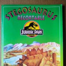 Coleccionismo Recortables: STEGOSAURUS RECORTABLE JURASSIC PARK (SUSAETA, 1993). MOLDES EN CARTÓN RÍGIDO A COLOR.. Lote 171971833