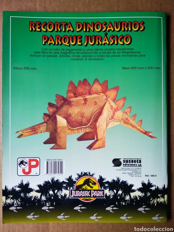 Coleccionismo Recortables: Stegosaurus Recortable Jurassic Park (Susaeta, 1993). Moldes en cartón rígido a color. - Foto 2 - 171971833