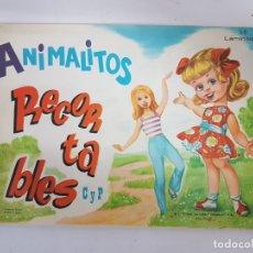 Coleccionismo Recortables: LIBRETA ANIMALITOS RECORTABLES / 50 LAMINAS / ORIGINAL AÑO 1971 / 32 X 21 CMS. Lote 180952338