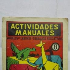 Coleccionismo Recortables: ACTIVIDADES MANUALES, Nº 8, ZOO DE PAPEL, RECORTADO Y PLEGADO DE FIGURAS, EDITORIAL SALVATELLA. Lote 182495055