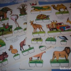 Coleccionismo Recortables: RECORTES KIKI LOLO SERIE ANIMALES LOTE COMPLETO 9 LAMINAS. Lote 190072961