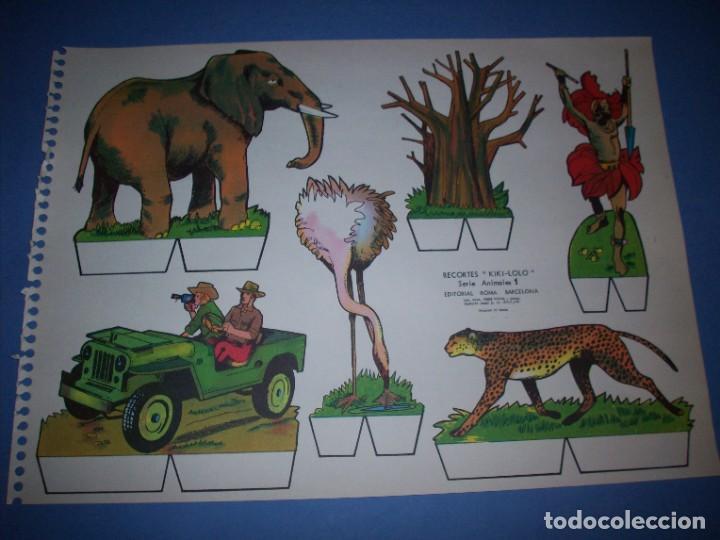 RECORTES KIKI LOLO SERIE ANIMALES Nº 1 (Coleccionismo - Recortables - Animales)