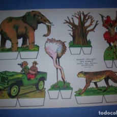 Coleccionismo Recortables: RECORTES KIKI LOLO SERIE ANIMALES Nº 1. Lote 190073070