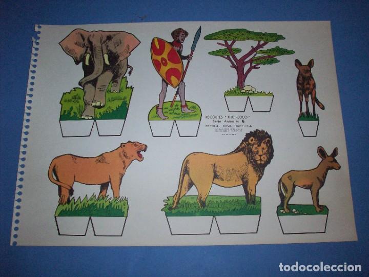 RECORTES KIKI LOLO SERIE ANIMALES Nº 6 (Coleccionismo - Recortables - Animales)
