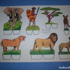 Coleccionismo Recortables: RECORTES KIKI LOLO SERIE ANIMALES Nº 6. Lote 190073320