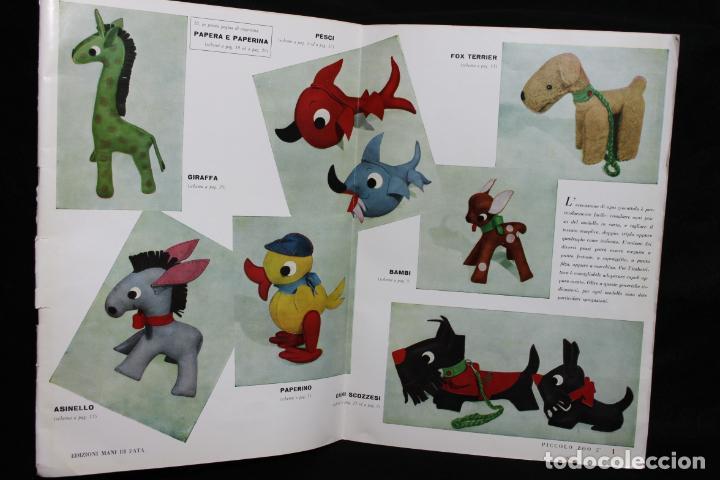 Coleccionismo Recortables: Piccolo Zoo 2º. Patrones para peluches. 1959. Milano. Edizioni Mani di Fata. Animales. Diseño Italia - Foto 2 - 190707675