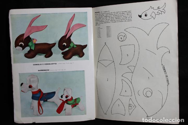 Coleccionismo Recortables: Piccolo Zoo 2º. Patrones para peluches. 1959. Milano. Edizioni Mani di Fata. Animales. Diseño Italia - Foto 3 - 190707675